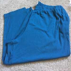 Teal Stretch Waist Pull On Pants